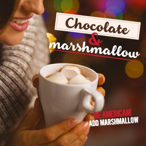 comuncazione prodotto, chocolate & marshmallow